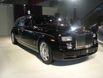 Automobile del balck della Rolls Royce Fotografia Stock