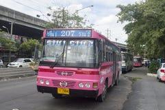 Automobile del bus di 207 Bangkok Fotografia Stock Libera da Diritti