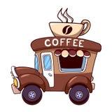 Automobile del caffè su un fondo bianco Immagine Stock Libera da Diritti