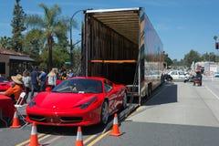 Automobile del coupé di Ferrari 458 Italia su esposizione immagini stock libere da diritti
