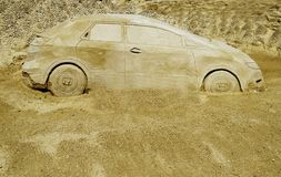 Automobile del deserto Immagine Stock
