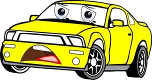 Automobile del fumetto colorata giallo fotografie stock libere da diritti