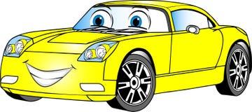 Automobile del fumetto colorata giallo fotografia stock
