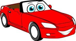 Automobile del fumetto colorata rosso fotografia stock libera da diritti