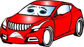 Automobile del fumetto colorata rosso divertente fotografia stock