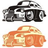 Automobile del fumetto di vettore retro Fotografie Stock Libere da Diritti