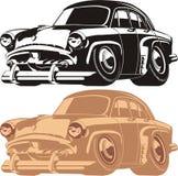 Automobile del fumetto di vettore retro Immagini Stock