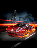 Automobile del fuoco illustrazione di stock