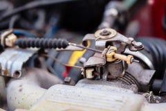 Automobile del gas del cavo vecchia, primo piano immagine stock