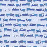 Automobile del giocattolo blu del fondo retro Fotografia Stock