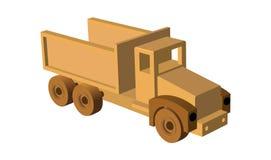 Automobile del giocattolo Camion di legno del giocattolo Vector l'illustrazione l'ENV 10 isolata su stile bianco del fumetto del  Fotografia Stock