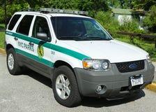 Automobile del guardia forestale di parco degli Stati Uniti nel parco di NYC a Brooklyn Fotografia Stock Libera da Diritti