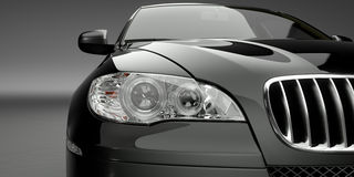 Automobile del lusso del faro illustrazione vettoriale