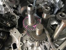 Automobile del motore dell'ingranaggio del dettaglio Fotografia Stock