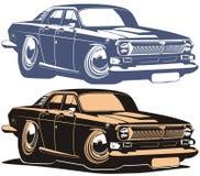 Automobile del muscolo del fumetto di vettore retro Fotografie Stock Libere da Diritti
