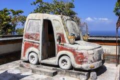 Automobile del tempio indù, Nusa Penida in Indonesia Fotografia Stock