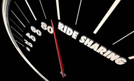 Automobile del veicolo del cambio del car pooling di Rideshare Illustrazione di Stock