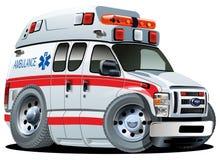 Automobile dell'ambulanza del fumetto di vettore Immagine Stock