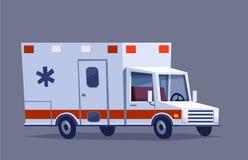 Automobile dell'ambulanza dell'illustrazione di vettore Fotografie Stock Libere da Diritti