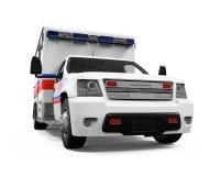 Automobile dell'ambulanza isolata Fotografie Stock Libere da Diritti