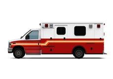 Automobile dell'ambulanza isolata Immagini Stock Libere da Diritti