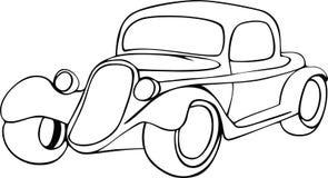 Automobile dell'annata del disegno della mano illustrazione vettoriale