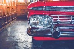 Automobile dell'annata del faro Immagine Stock Libera da Diritti