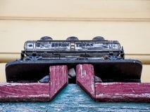 Automobile dell'autocisterna della ferrovia Fotografie Stock