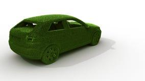Automobile dell'erba verde Fotografia Stock