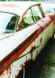 Automobile dell'iarda di ciarpame Immagini Stock Libere da Diritti
