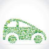 Automobile dell'icona e di disegno della natura Fotografia Stock Libera da Diritti