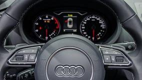 Automobile dell'interno di Audi A3 Immagini Stock