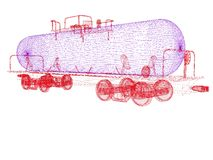 automobile della cisterna del modello 3D Fotografie Stock