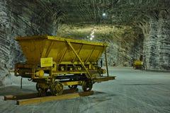 Automobile della miniera di sale Fotografia Stock