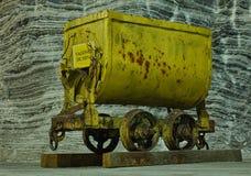 Automobile della miniera di sale Fotografie Stock