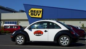 Automobile della polizia del disadattato Fotografia Stock