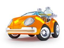 Automobile della soda arancio Fotografia Stock