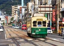 Automobile della via a Nagasaki immagine stock libera da diritti