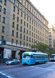 Automobile della via a San Francisco del centro Immagine Stock Libera da Diritti