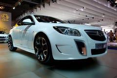 Automobile delle insegne di Opel su autoshow immagine stock libera da diritti