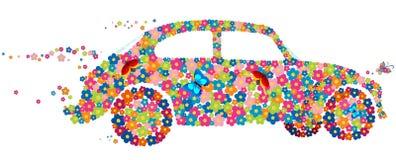 Automobile dello scarabeo del hippie di vettore Fotografie Stock Libere da Diritti