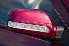 Automobile dello specchio di retrovisione immagini stock libere da diritti