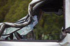 Automobile di arresto sul luogo dell'incidente Fotografia Stock