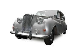 Automobile di cerimonia nuziale, in argento Immagini Stock