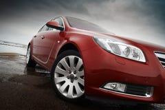 Automobile di colore rosso di ciliegia Fotografia Stock