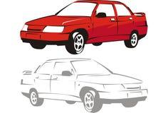 Automobile di colore rosso di vettore Fotografia Stock