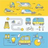 Automobile di concetto del trasporto stradale futuro illustrazione vettoriale