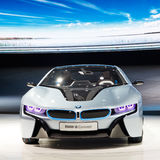 Automobile di concetto di BMW i8 Fotografie Stock Libere da Diritti