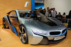 Automobile di concetto di BMW i8 Fotografia Stock Libera da Diritti