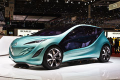 Automobile di concetto di Mazda al motorshow di Ginevra Fotografia Stock Libera da Diritti